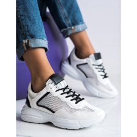 SHELOVET Sneakers With Mesh white 2