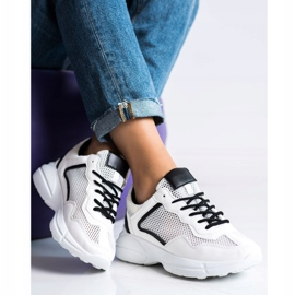 SHELOVET Sneakers With Mesh white 3