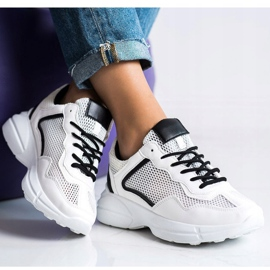 SHELOVET Sneakers With Mesh white 4