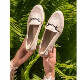 Coura Moccasins With Ornament beige 4