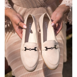 Coura Moccasins With Ornament beige 5