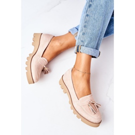 Suede loafers Lewski Shoes 3053 Cappuccino beige 1