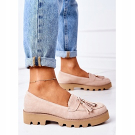 Suede loafers Lewski Shoes 3053 Cappuccino beige 5