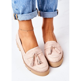 Suede loafers Lewski Shoes 3053 Cappuccino beige 2