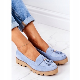 Suede loafers Lewski Shoes 3053 Blue 1