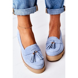 Suede loafers Lewski Shoes 3053 Blue 2