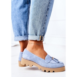 Suede loafers Lewski Shoes 3053 Blue 4