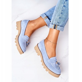 Suede loafers Lewski Shoes 3053 Blue 5