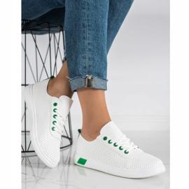 SHELOVET Openwork Sneakers white 3