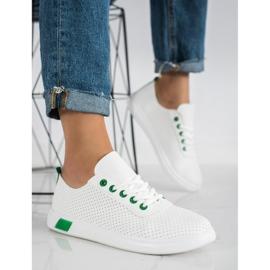 SHELOVET Openwork Sneakers white 2