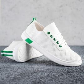 SHELOVET Openwork Sneakers white 1