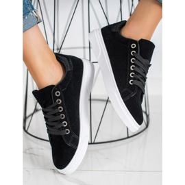 SHELOVET Suede Sneakers black 1