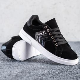 SHELOVET Suede Sneakers black 3