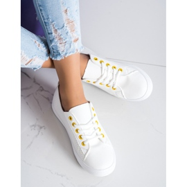 SHELOVET Openwork Sneakers With Eco Leather white 3