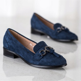 VINCEZA flat heels loafers navy blue blue 1