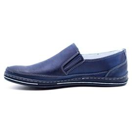 Polbut Men's shoes slip 2107 navy blue 4