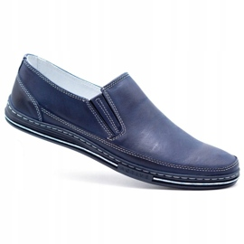 Polbut Men's shoes slip 2107 navy blue 5