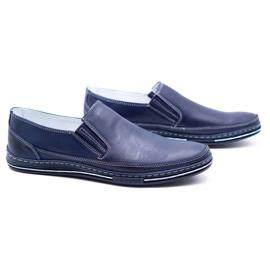 Polbut Men's shoes slip 2107 navy blue 6