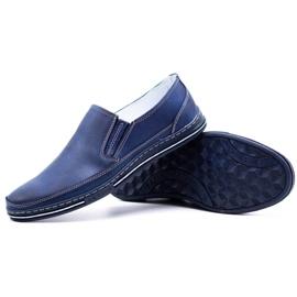 Polbut Men's shoes slip 2107 navy blue 7