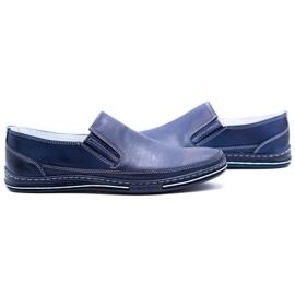 Polbut Men's shoes slip 2107 navy blue 8