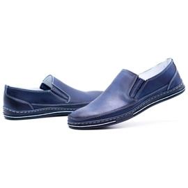 Polbut Men's shoes slip 2107 navy blue 10