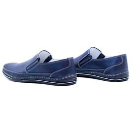 Polbut Men's shoes slip 2107 navy blue 11