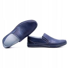 Polbut Men's shoes slip 2107 navy blue 1