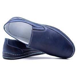 Polbut Men's shoes slip 2107 navy blue 2