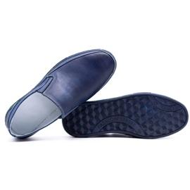 Polbut Men's shoes slip 2107 navy blue 3