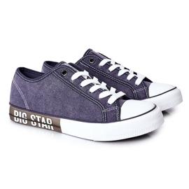Men's Big Star HH174047 Navy blue sneakers 4