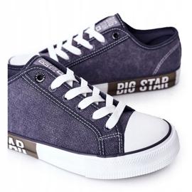 Men's Big Star HH174047 Navy blue sneakers 2