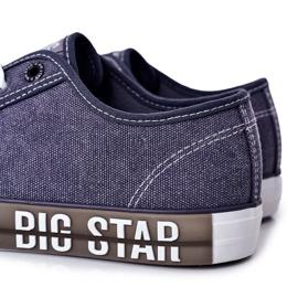 Men's Big Star HH174047 Navy blue sneakers 3