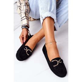 PS1 Women's Black Downtown Suede Loafers 4