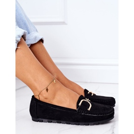PS1 Women's Black Downtown Suede Loafers 5