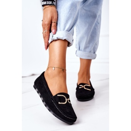 PS1 Women's Black Downtown Suede Loafers 2