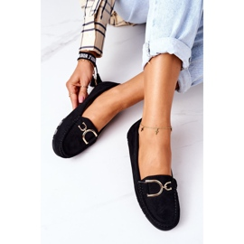 PS1 Women's Black Downtown Suede Loafers 3