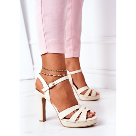 PW1 Elegant Sandals On A Bar Beige Anastasia 3