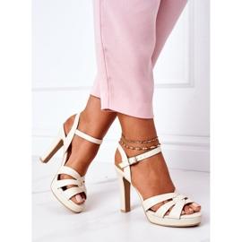 PW1 Elegant Sandals On A Bar Beige Anastasia 4