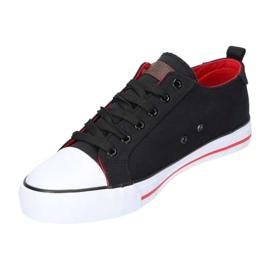 Black American Club LH26 / 21 Sneakers red 1