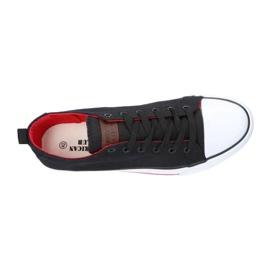 Black American Club LH26 / 21 Sneakers red 3