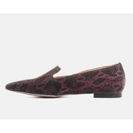 Marco Shoes Lordsy ballerinas made of suede leather in a snakeskin pattern black 2