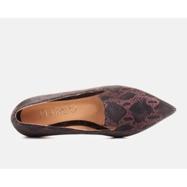 Marco Shoes Lordsy ballerinas made of suede leather in a snakeskin pattern black 4