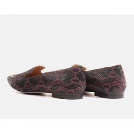 Marco Shoes Lordsy ballerinas made of suede leather in a snakeskin pattern black 3