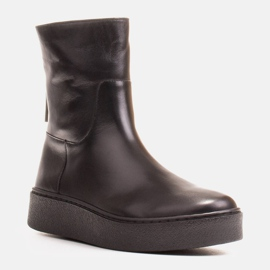 Marco Shoes Insulated sports ankle boots with a hemmed underside black 1
