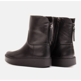 Marco Shoes Insulated sports ankle boots with a hemmed underside black 4