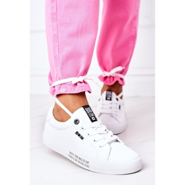 Women's leather sneakers with the inscription Big Star EE274316 White 4