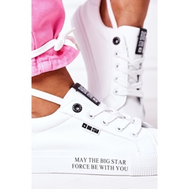 Women's leather sneakers with the inscription Big Star EE274316 White 3