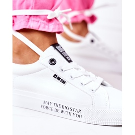Women's leather sneakers with the inscription Big Star EE274316 White 6