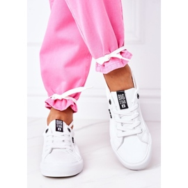 Women's leather sneakers with the inscription Big Star EE274316 White 7