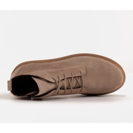 Marco Shoes Low lace-up boots made of soft leather beige 6